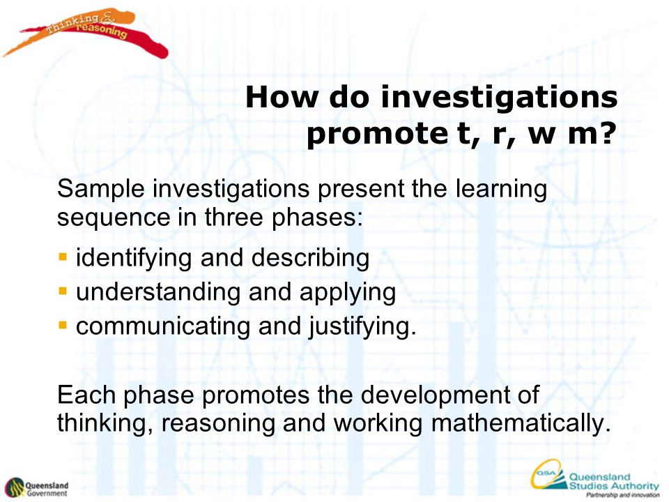 How do investigations promote t, r, w m