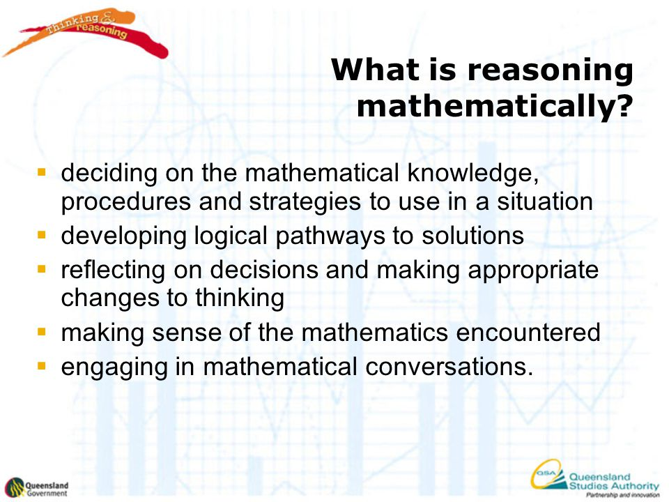 What is reasoning mathematically