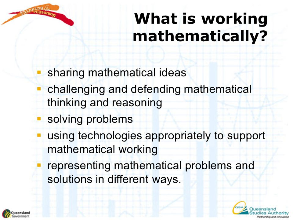 What is working mathematically