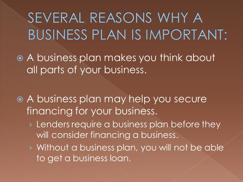 Why a Business Plan Is Important to Small Business