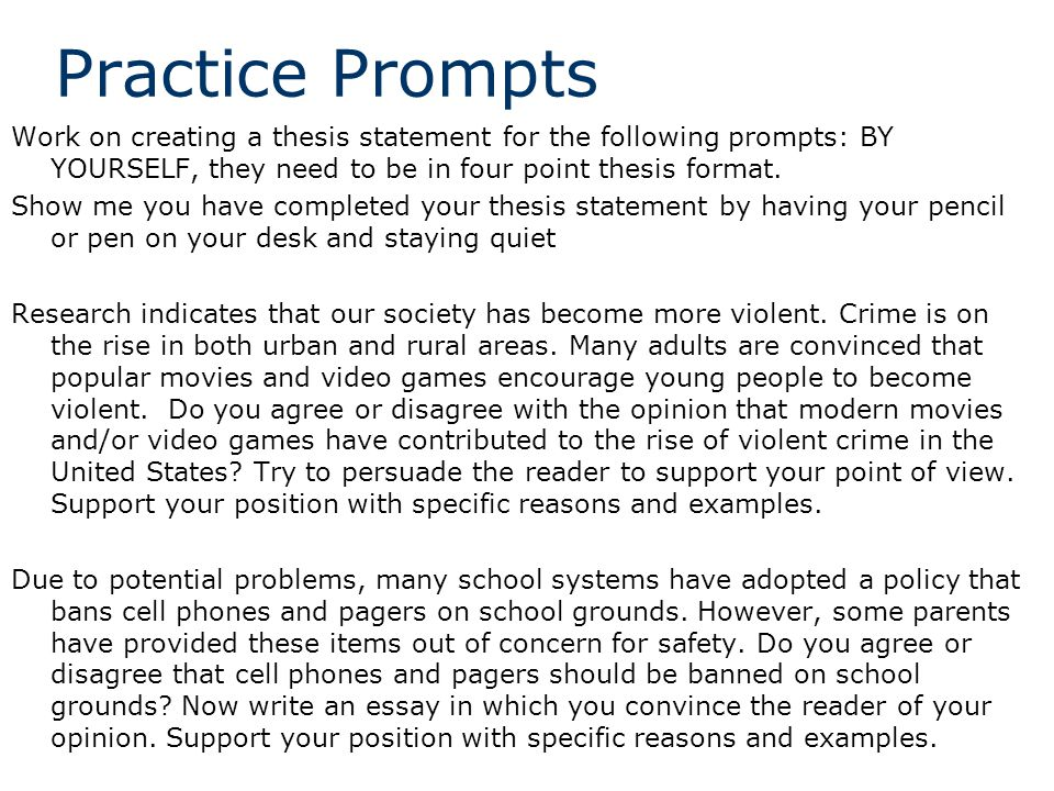 thesis statement for crime essay