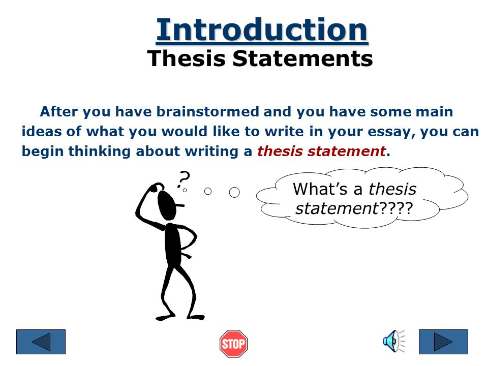Can you have a question in your thesis statement