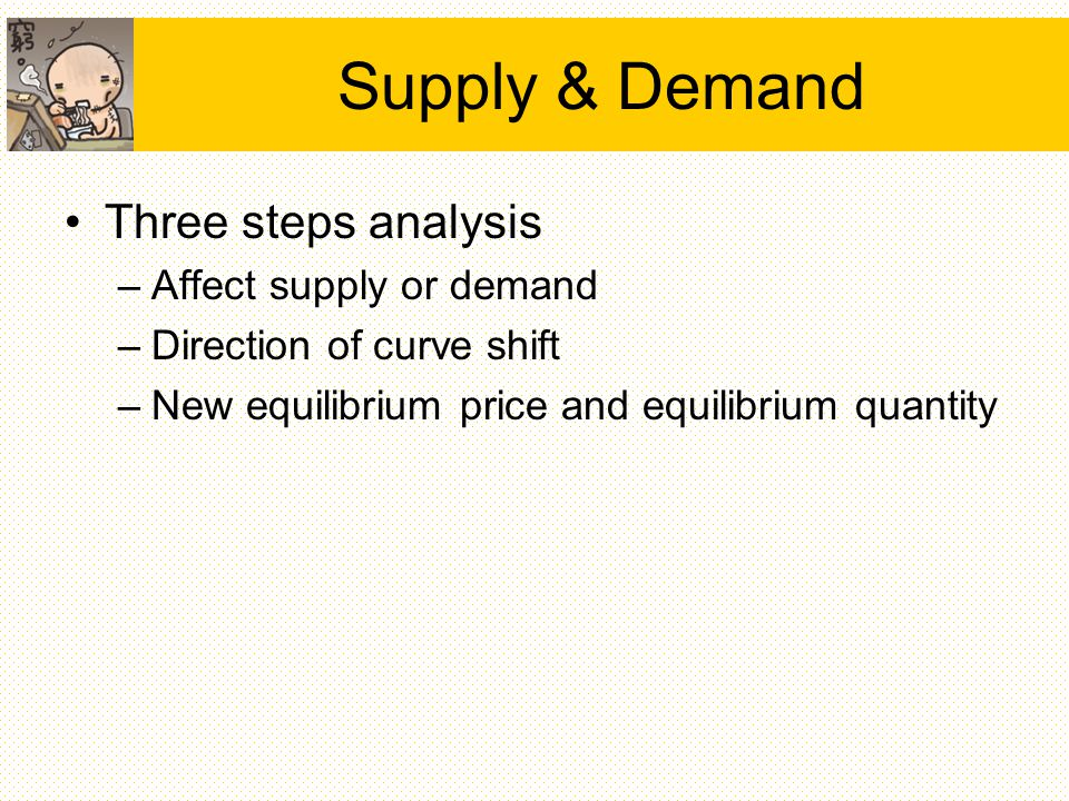 analysis of factors for changes in demand and how they effect equilibrium price and quantity Basic microeconomics - demand, supply and equilibrium 9what is the equilibrium quantity and price when calculated by using the supply and demand equations.