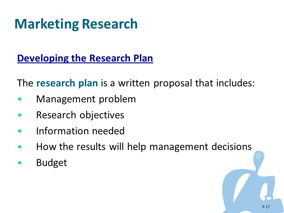 Marketing Research Developing the Research Plan