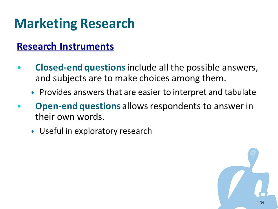 Marketing Research Research Instruments