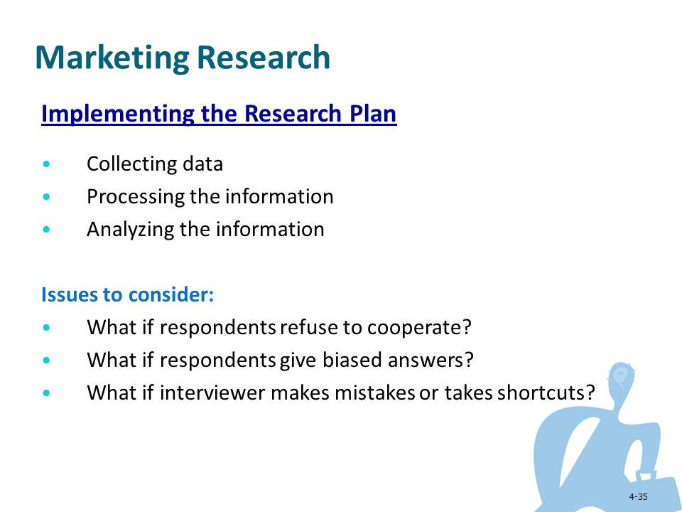 Marketing Research Implementing the Research Plan Collecting data