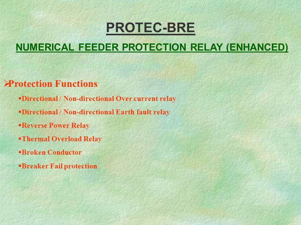 numerical feeder protection relay enhanced