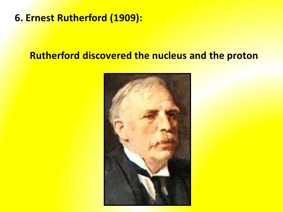 Rutherford discovered the nucleus and the proton