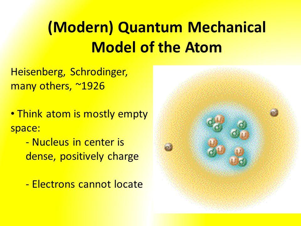 (Modern) Quantum Mechanical Model of the Atom