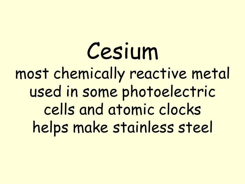 Elements presentation ppt video online download 25 cesium urtaz Image collections