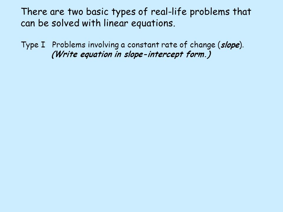 writing linear equations word problems