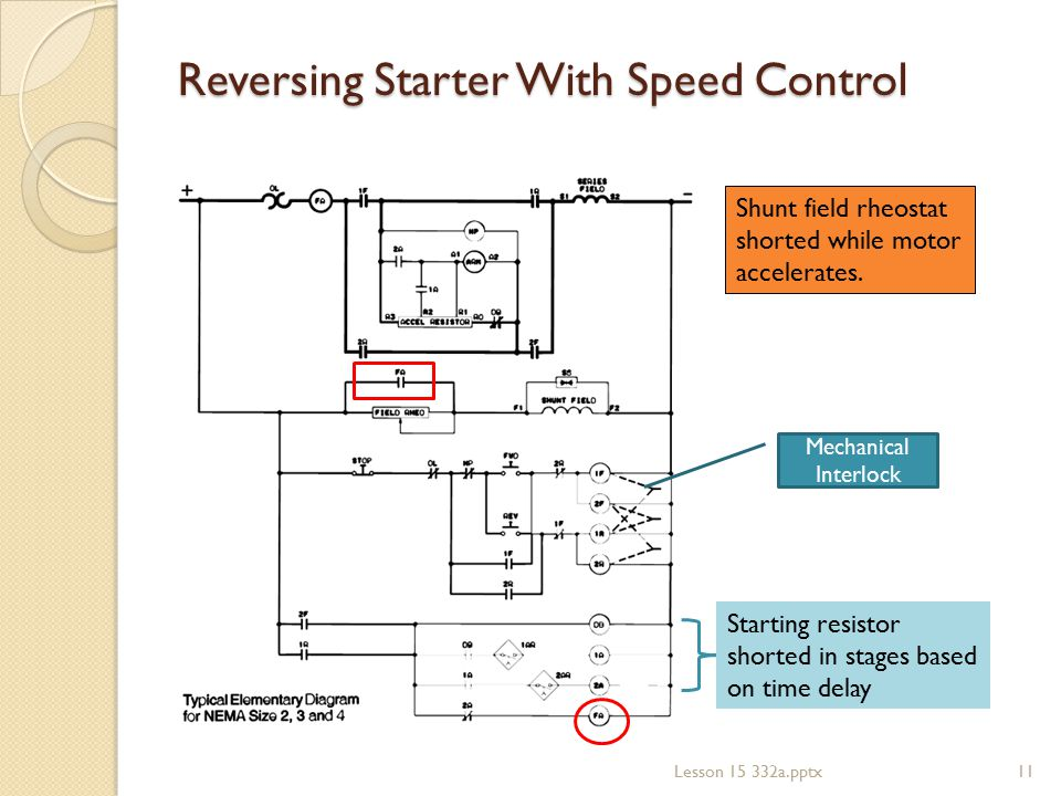 Reversing Starter With Speed Control