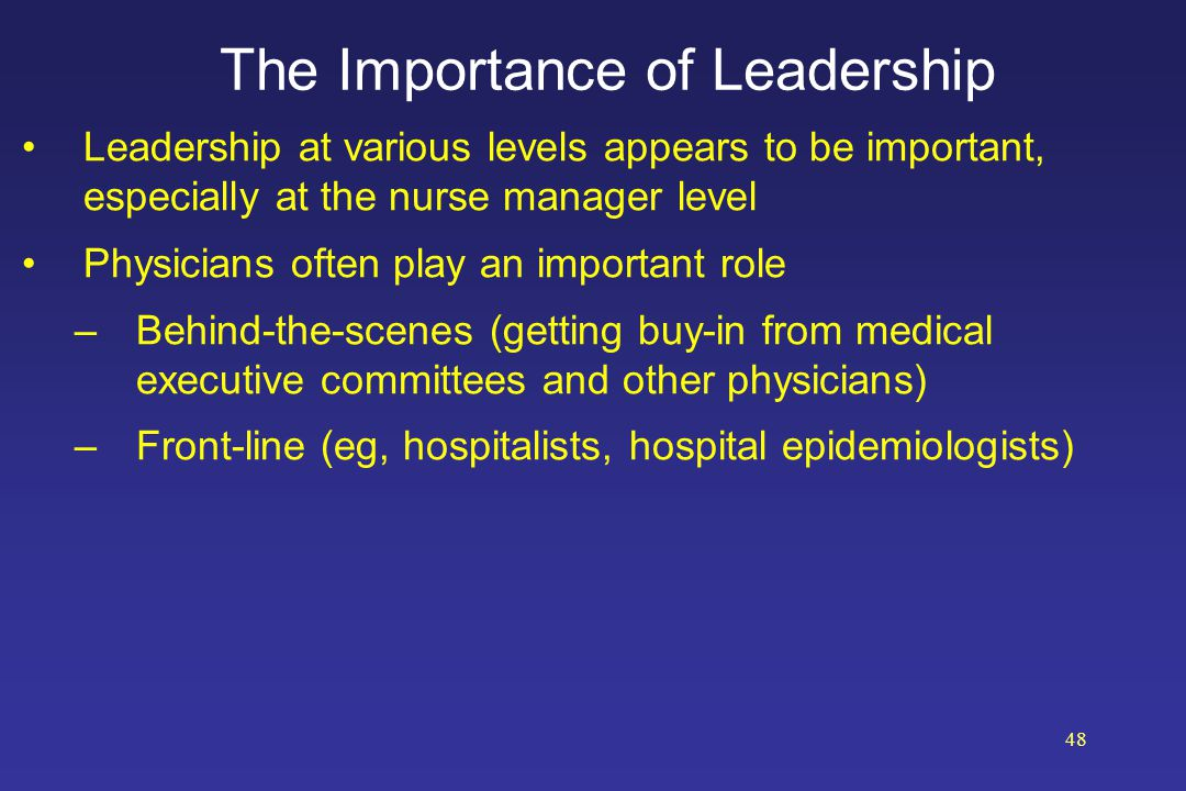 the importance of leadership in nursing The importance of effective communication in nursing leadership cannot be overstated when it comes to interacting with patients, medical teams and doctors.