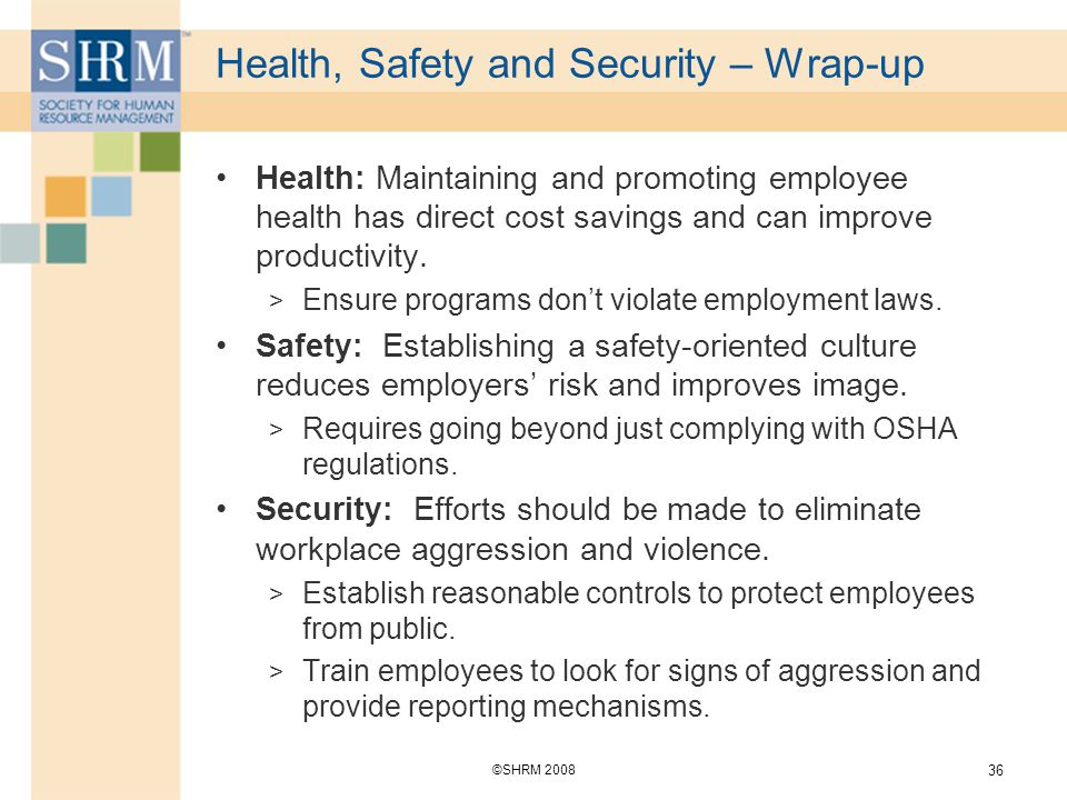 health and safety in security Health, safety, security, and environment print csa is respected as a leading international marine environmental consulting firm with a formal health, safety, security, and environment (hsse) program to protect human health, avoid and prevent accidents and injuries, and minimize impact to the environment.