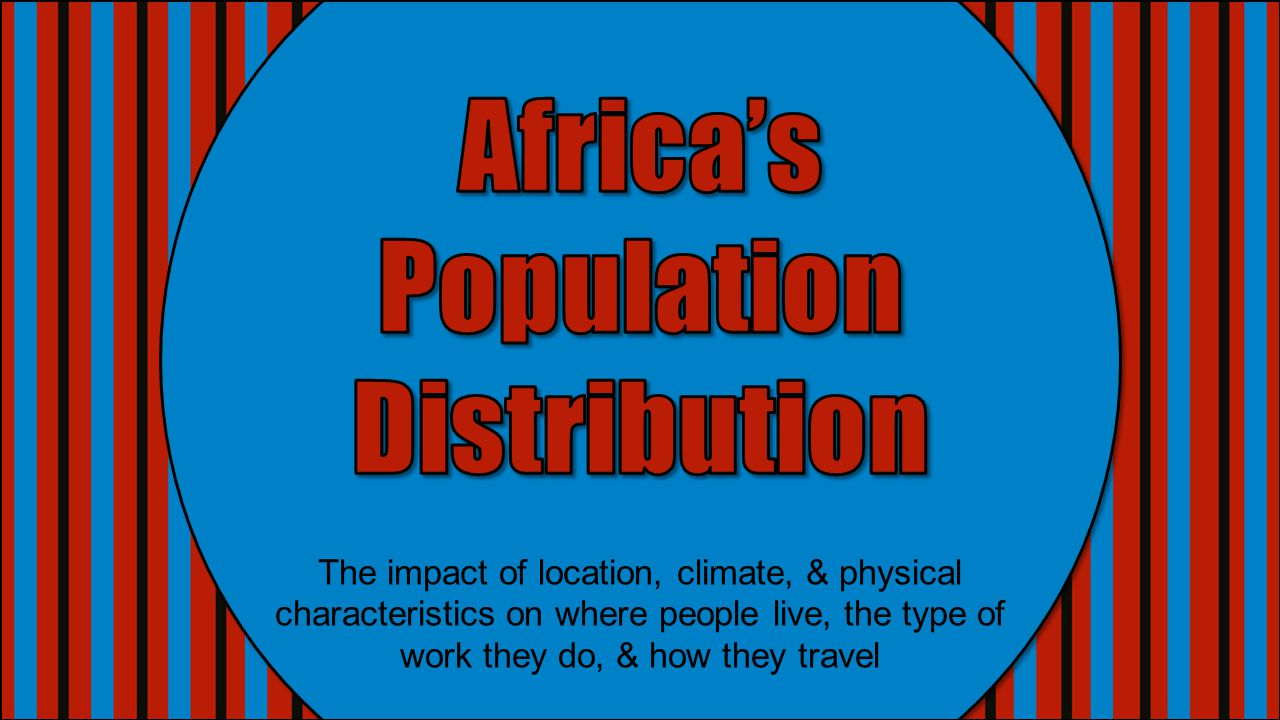 Africa's Population Distribution