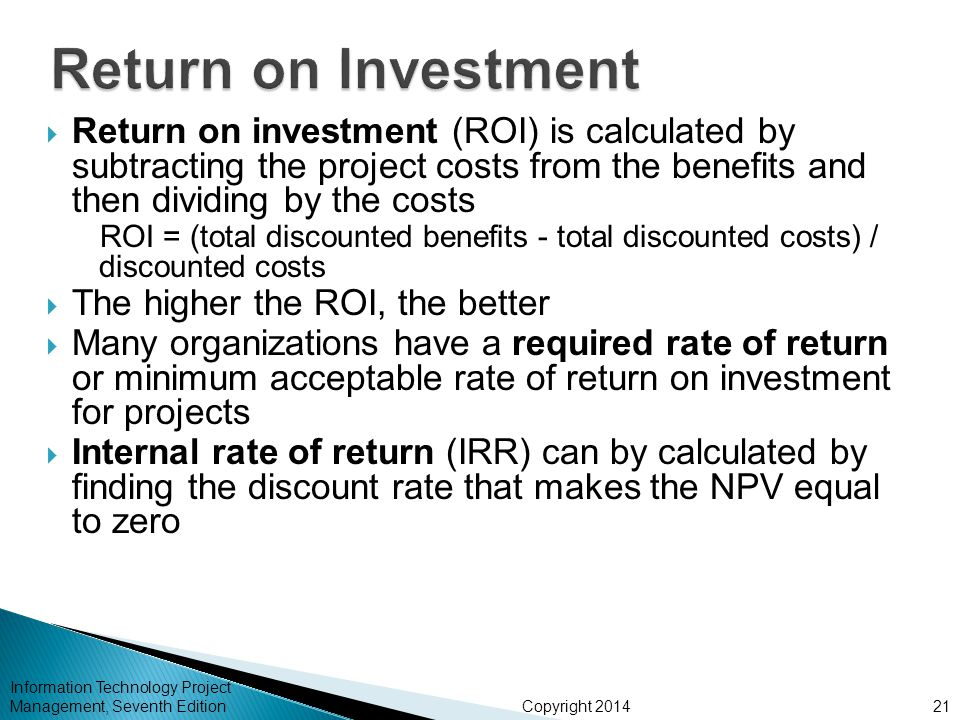 The Real ReTurn On Investment of Information Technology