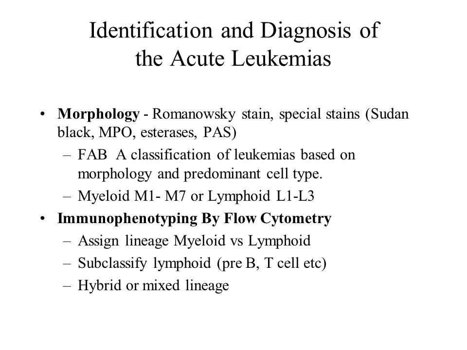 Identification and Diagnosis of the Acute Leukemias - ppt video ...