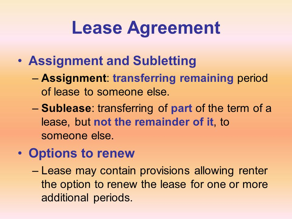 Chapter  Rental Agreements  Ppt Download