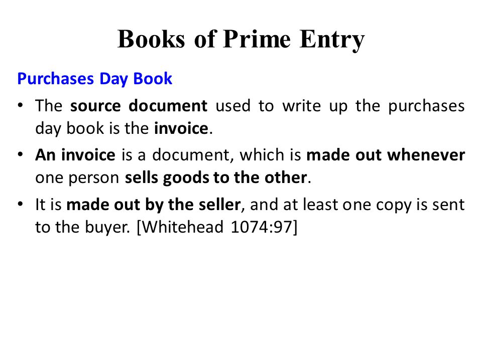 book of prime entry