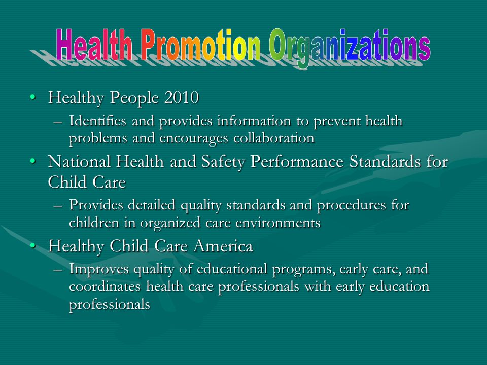 Health Promotion Organizations