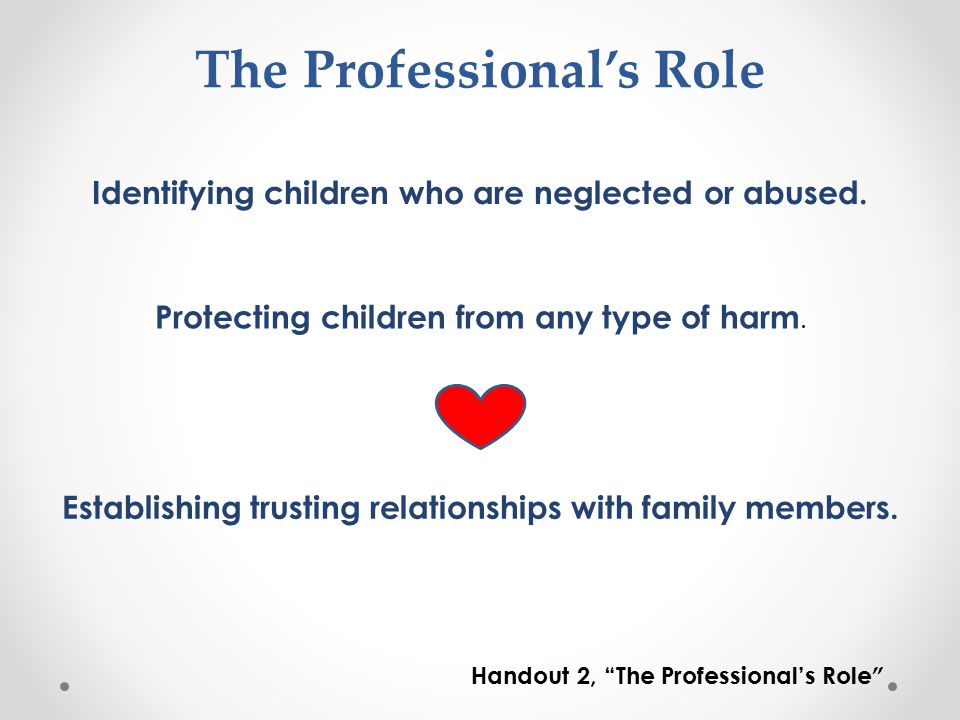 The Professional's Role