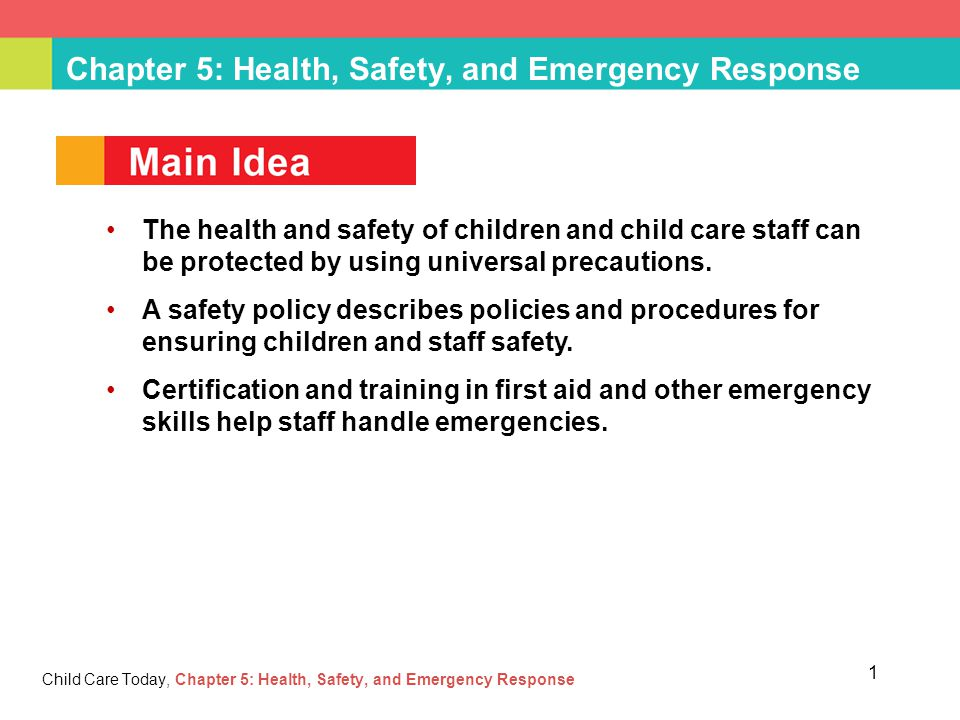 preschool health policy chapter 5 health safety and emergency response ppt 958
