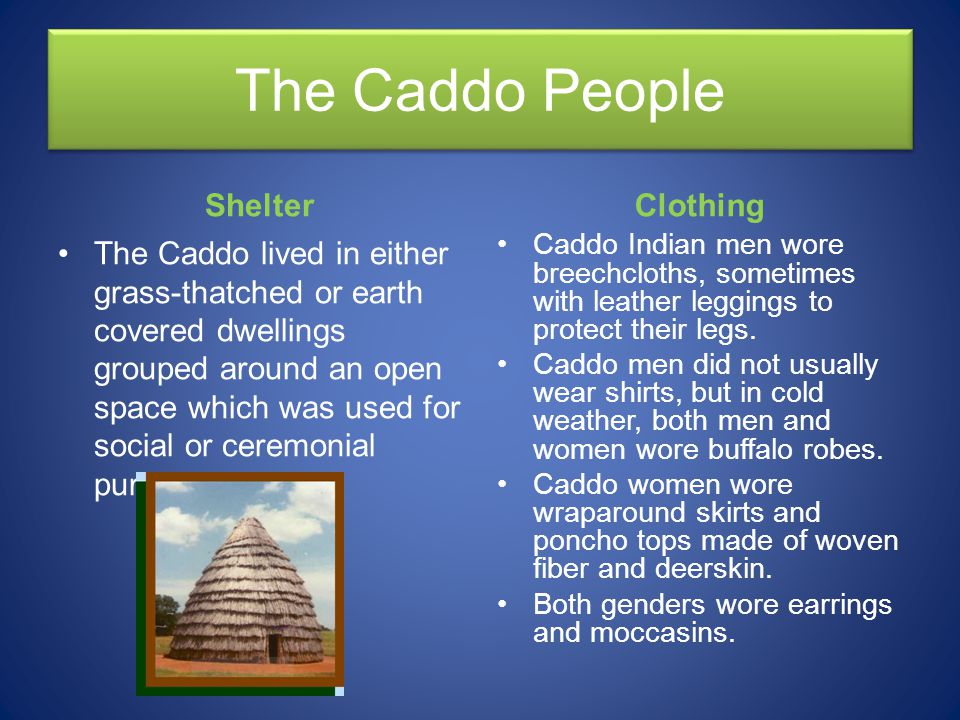 The Caddo People Shelter Clothing