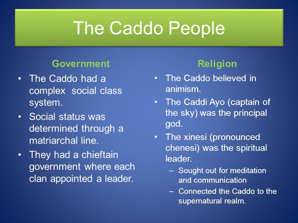 The Caddo People Government Religion