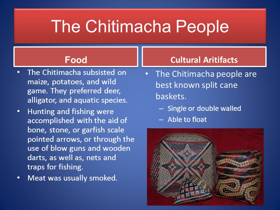 The Chitimacha People Food Cultural Aritifacts