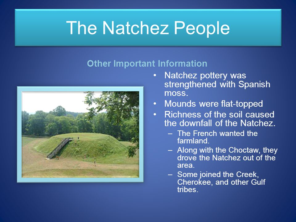 The Natchez People Other Important Information