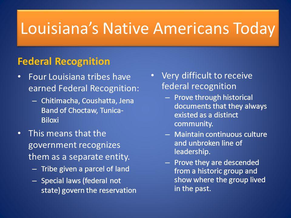 Louisiana's Native Americans Today