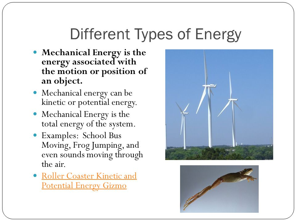 two different types of energy kinetic and potential Chapter 14 potential energy and conservation of energy there are two types of mechanical energy, kinetic energy and two different paths connecting the same.