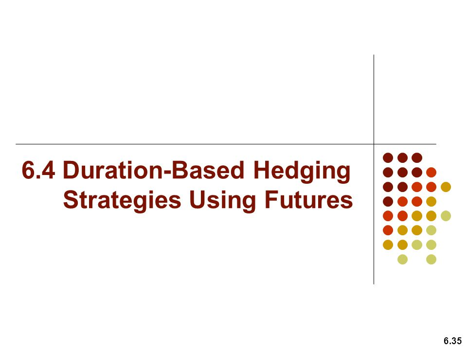 6.4 Duration-Based Hedging Strategies Using Futures
