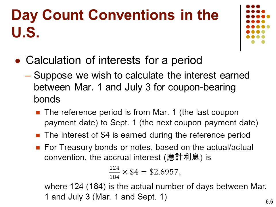 Day Count Conventions in the U.S.