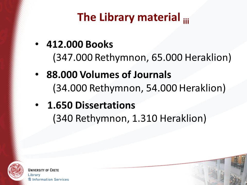 The Library material iii