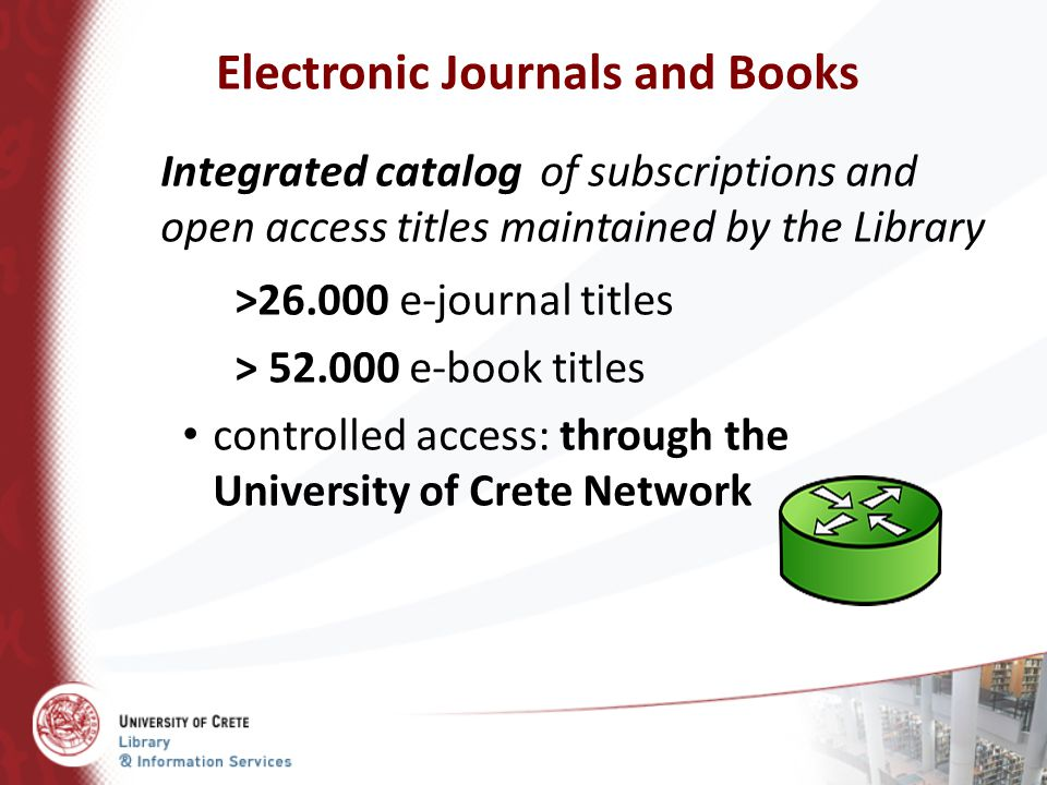 Electronic Journals and Books
