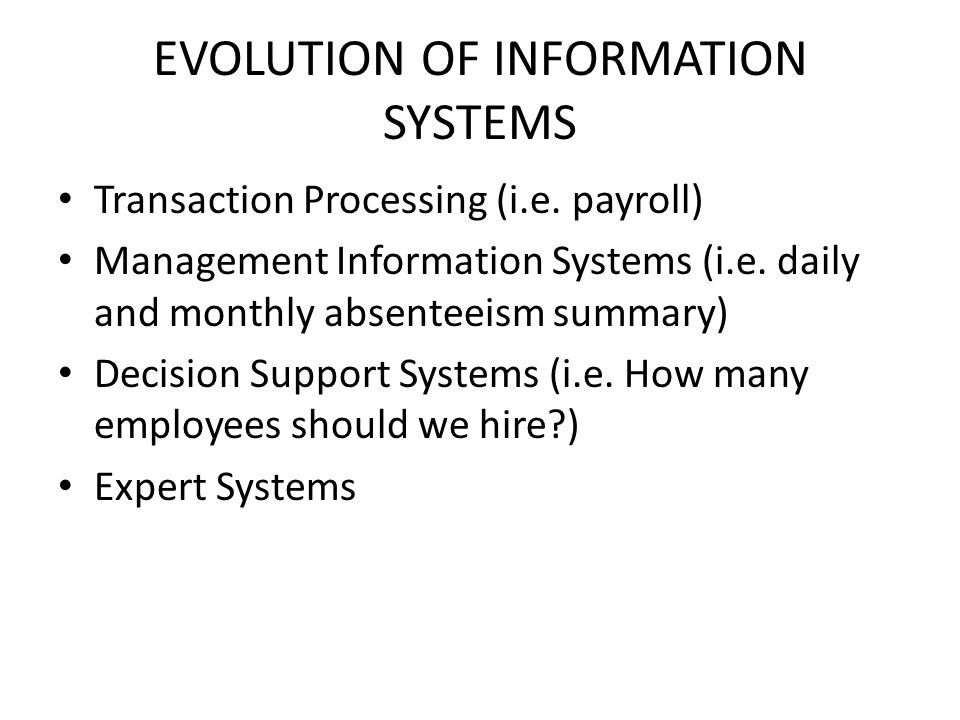 evolution of information system 1 evolutionary business information systems - perspectives and challenges of  an emerging class of information systems1 gustaf neumann, stefan sobernig,.