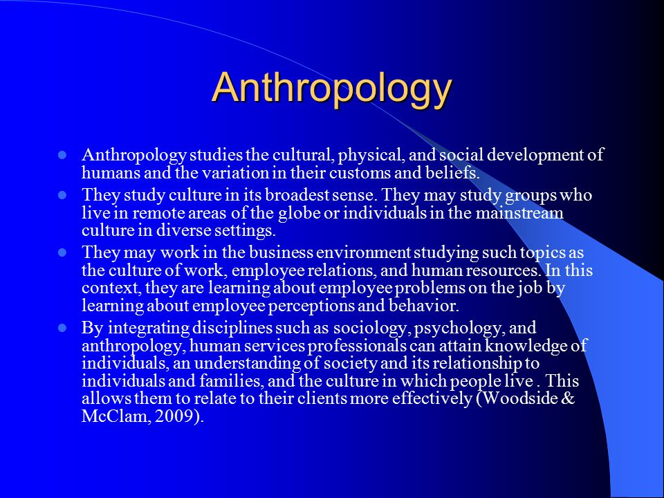 relationship of sociology and anthropology to history design