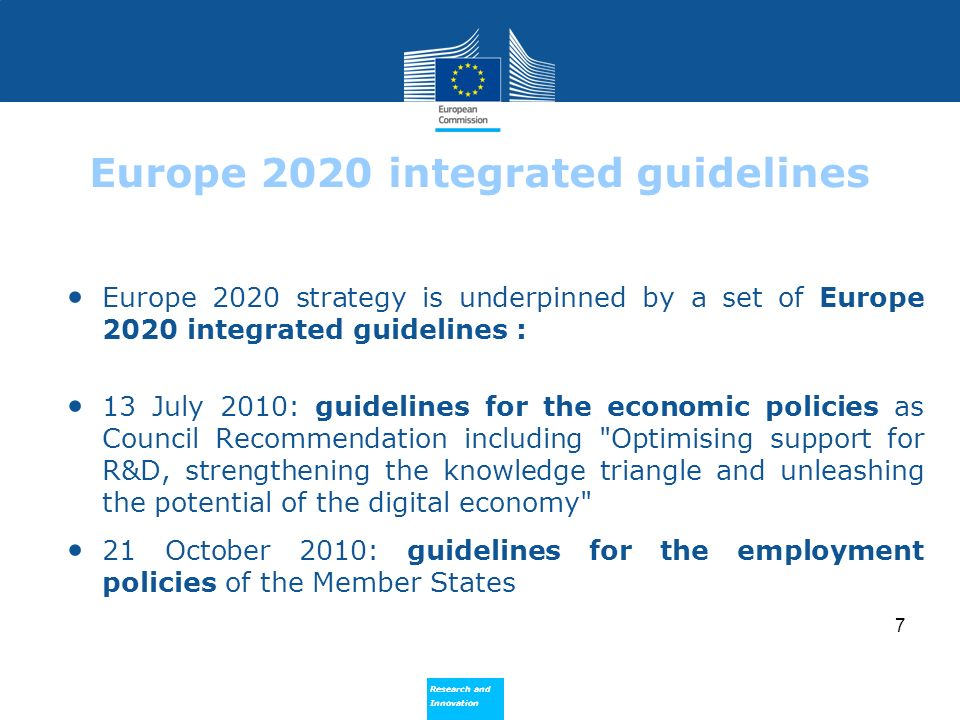 Europe 2020 integrated guidelines