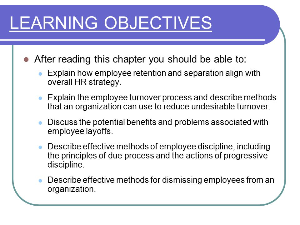 Managing Employee Retention And Separation  Ppt Video Online Download