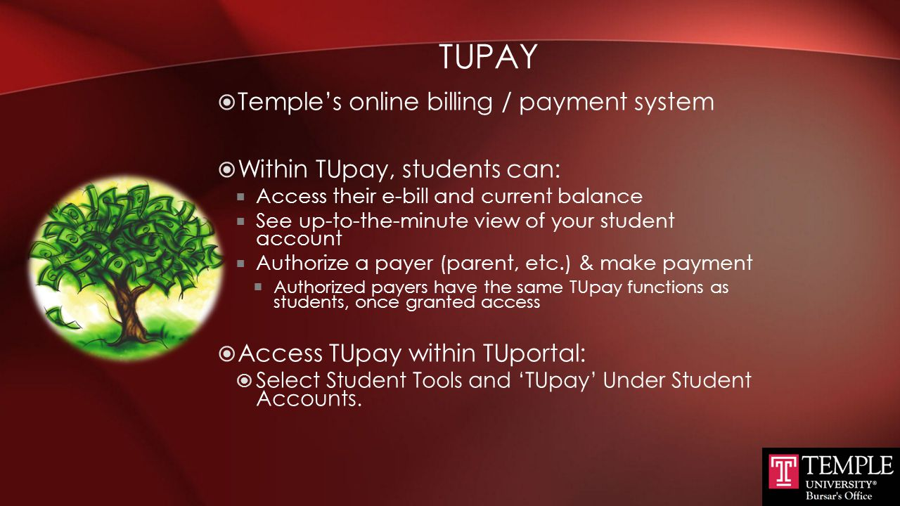 TupAY Temple's online billing / payment system