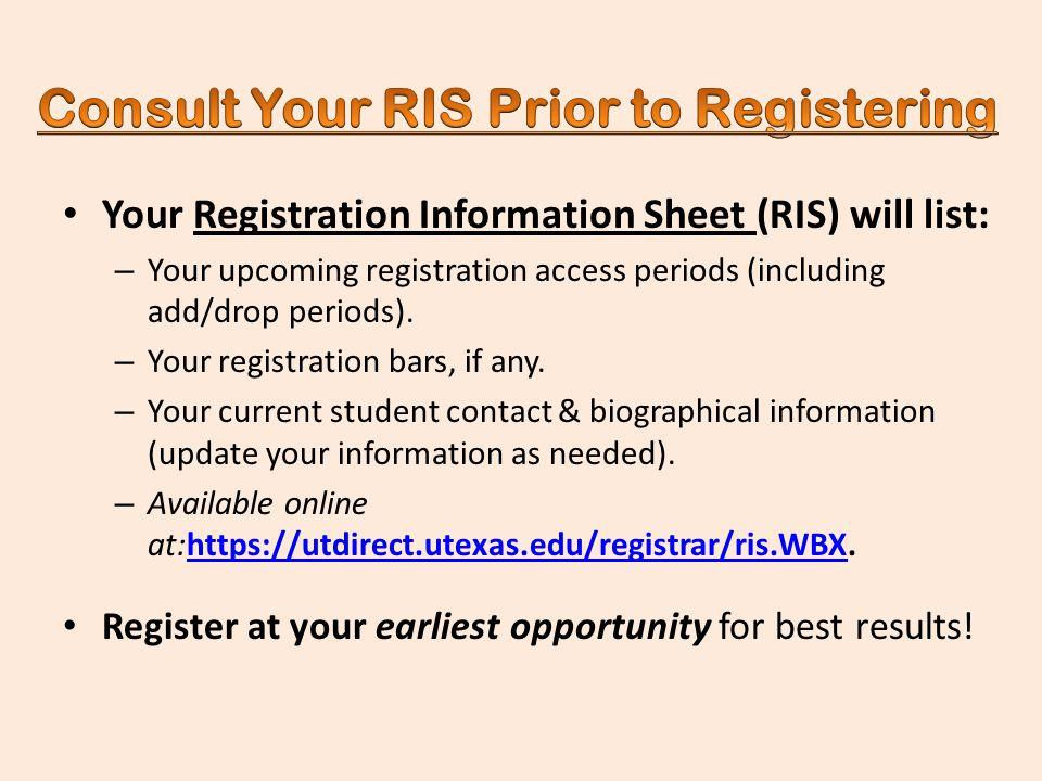 registration information sheet ut austin