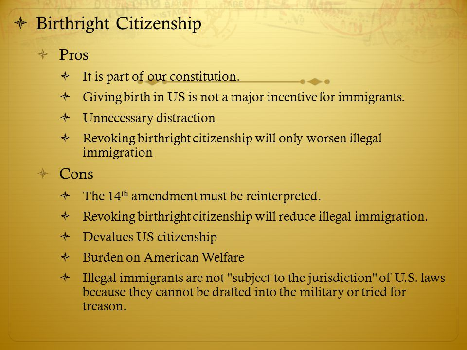immigration pros and cons Writing on immigration: good topics for a research paper  legal immigration pros and/or cons illegal immigration pros and/or cons and then there is the.
