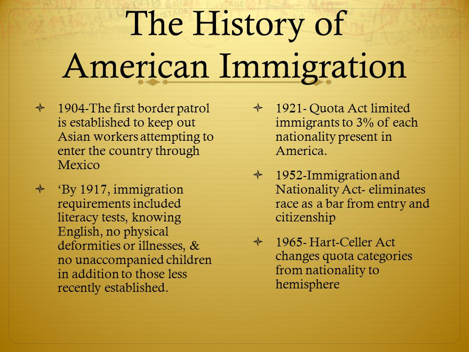 a history of immigration in america History of indians in the  for their being in america was to save money and send it  and the us government started cooperating to limit indian immigration.