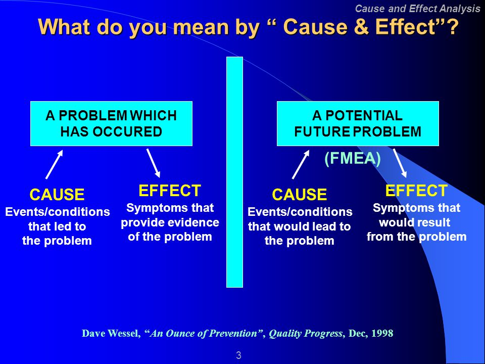 cause and effect relationship psychology