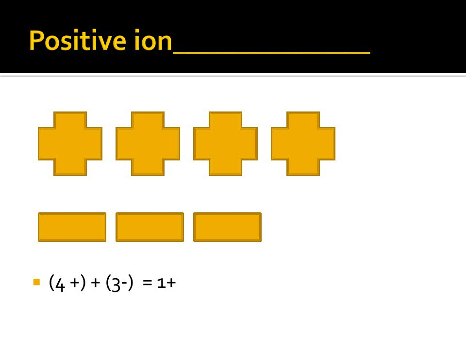Positive ion______________