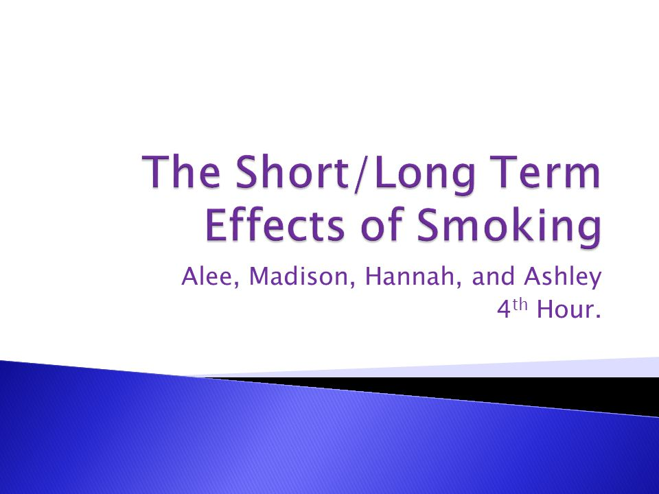 Long term affects of smoking