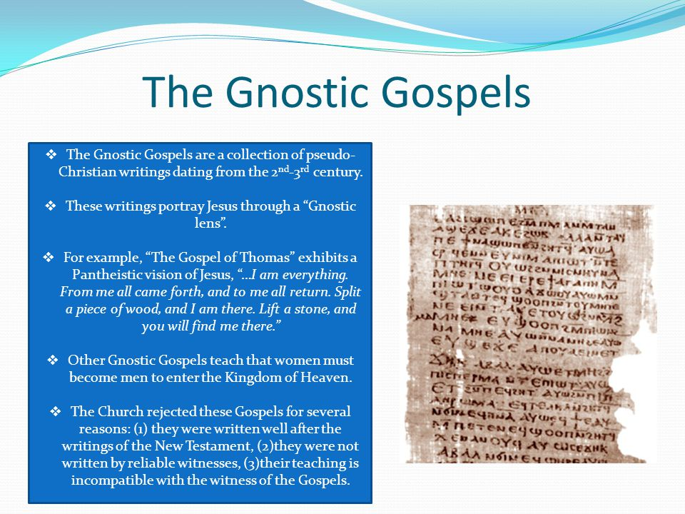 gnostic dating Gnostic images of the feminine  these findings confirm the dating of the discovery already made previously,  gnostic gospels,.