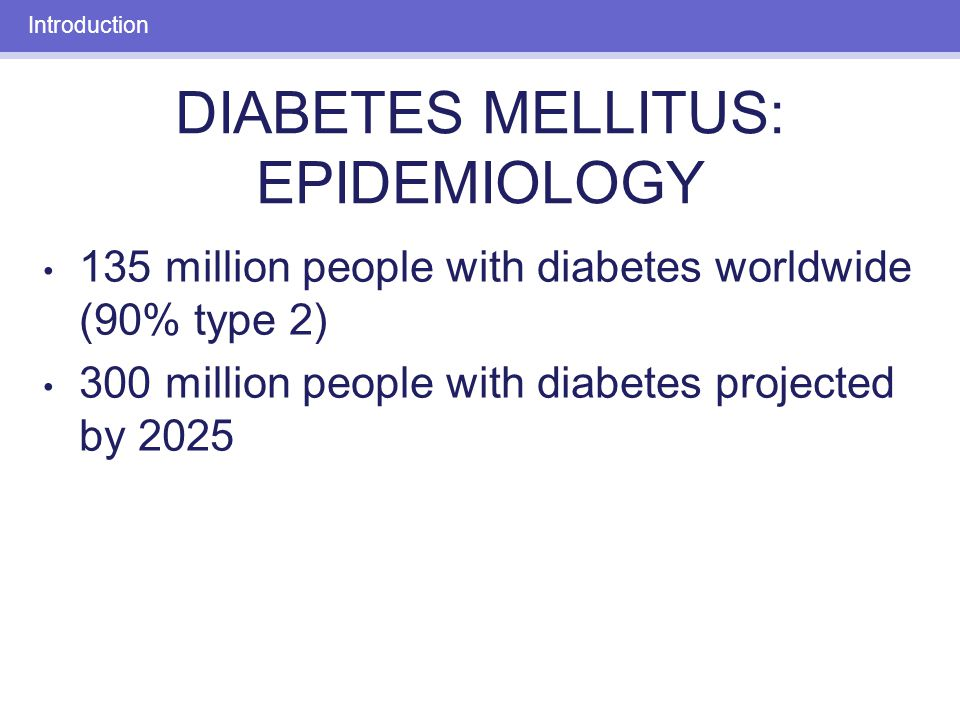 an introduction to diabetes mellitus The former, also known as diabetes mellitus, or juvenile onset diabetes, is an autoimmune disorder in which the immune system attacks and destroys insulin-producing beta cells in the pancreas it's not clear why this cellular genocide occurs, but it's believed that abnormal antibodies, and possibly viral infections, may be involved.