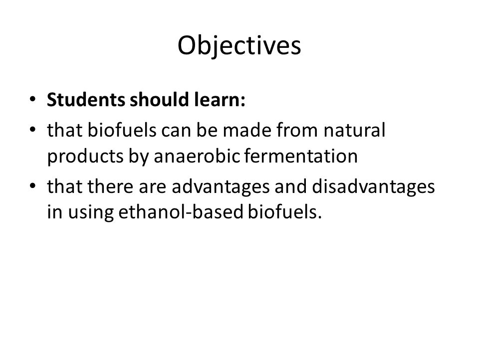 Objectives Students should learn: